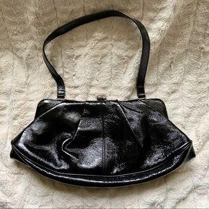 HOBO Kiss Lock Patent Leather Bag